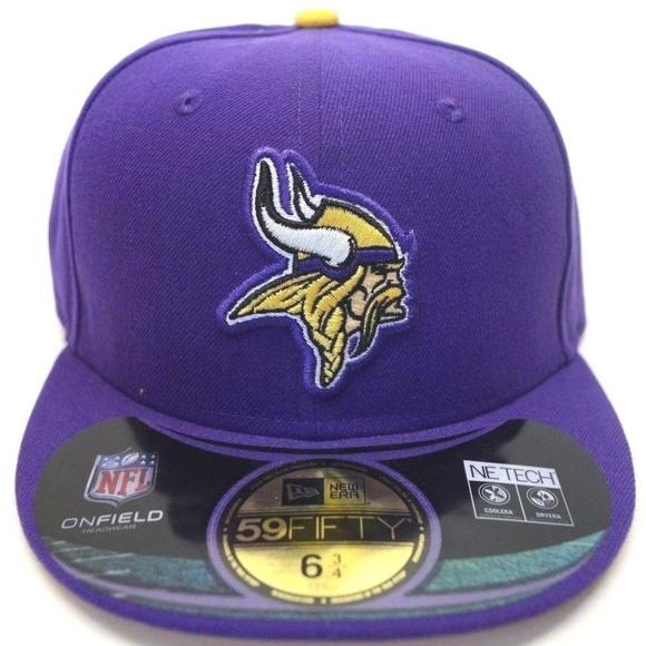 a4cb47a4a Men's New Era Minnesota Vikings 59Fifty Sz 6 3/4 NWT